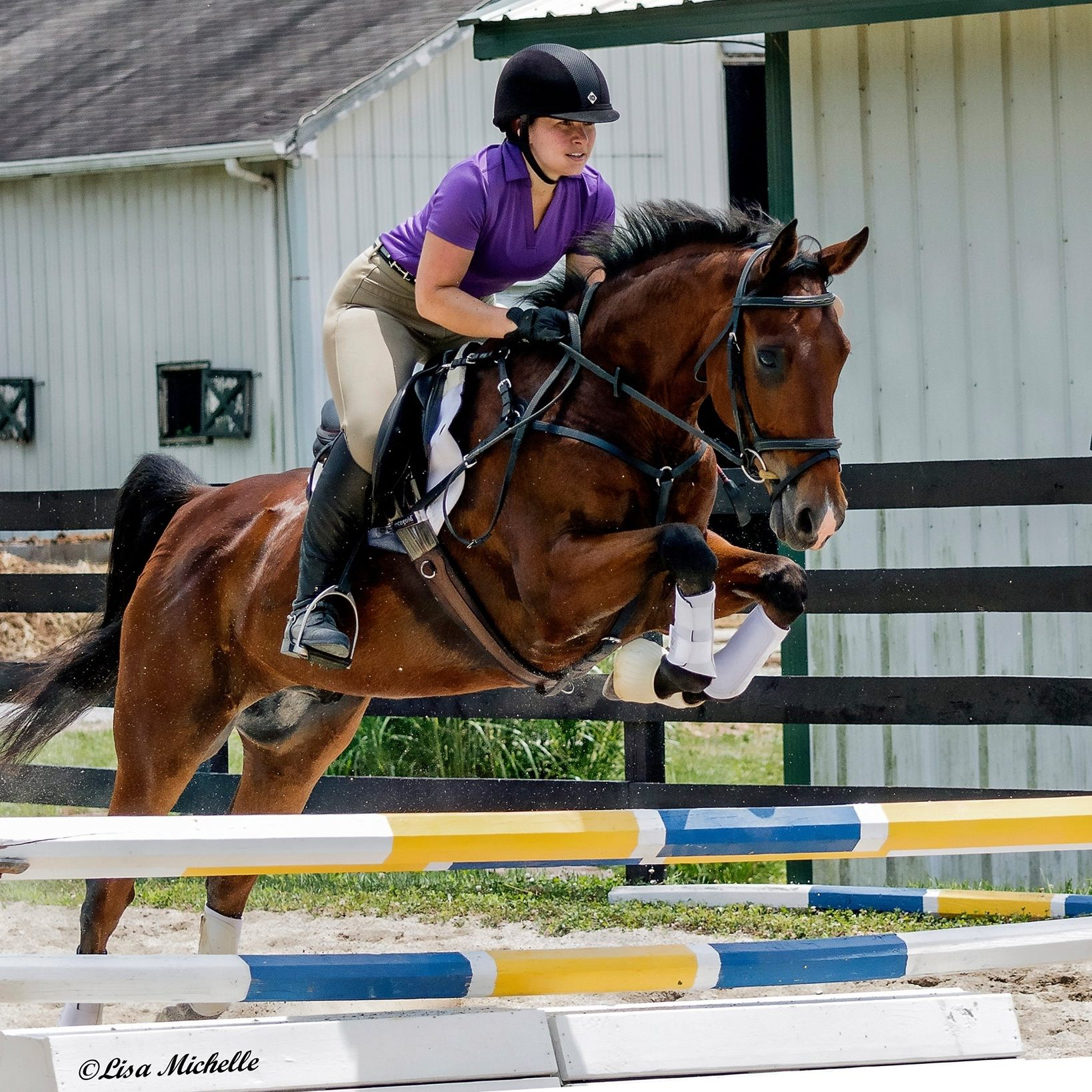 Rachel Kelley and her beloved Saddlebred, George, competing in eventing.