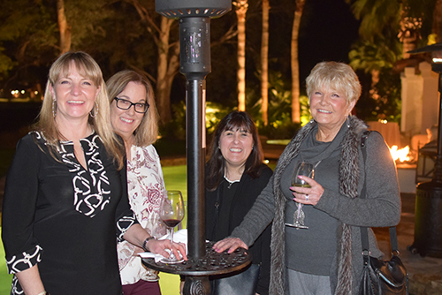 Stacey Kipper-Perelli, Kelly Hulse, Sharon Thompson and Sandra Kipper enjoyed themselves at Joe O'Brien's party.