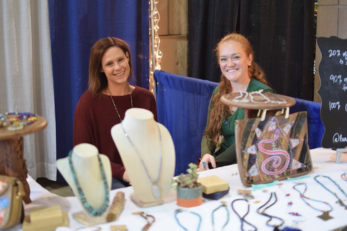 Ali and her friend Lexi Strauss brought Ali's Luna Avalon Designs to this years American Royal.