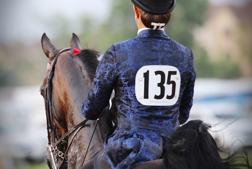 Back numbers should always be easy for the judge to read. Photo by Julia Shelburne-Hitti.