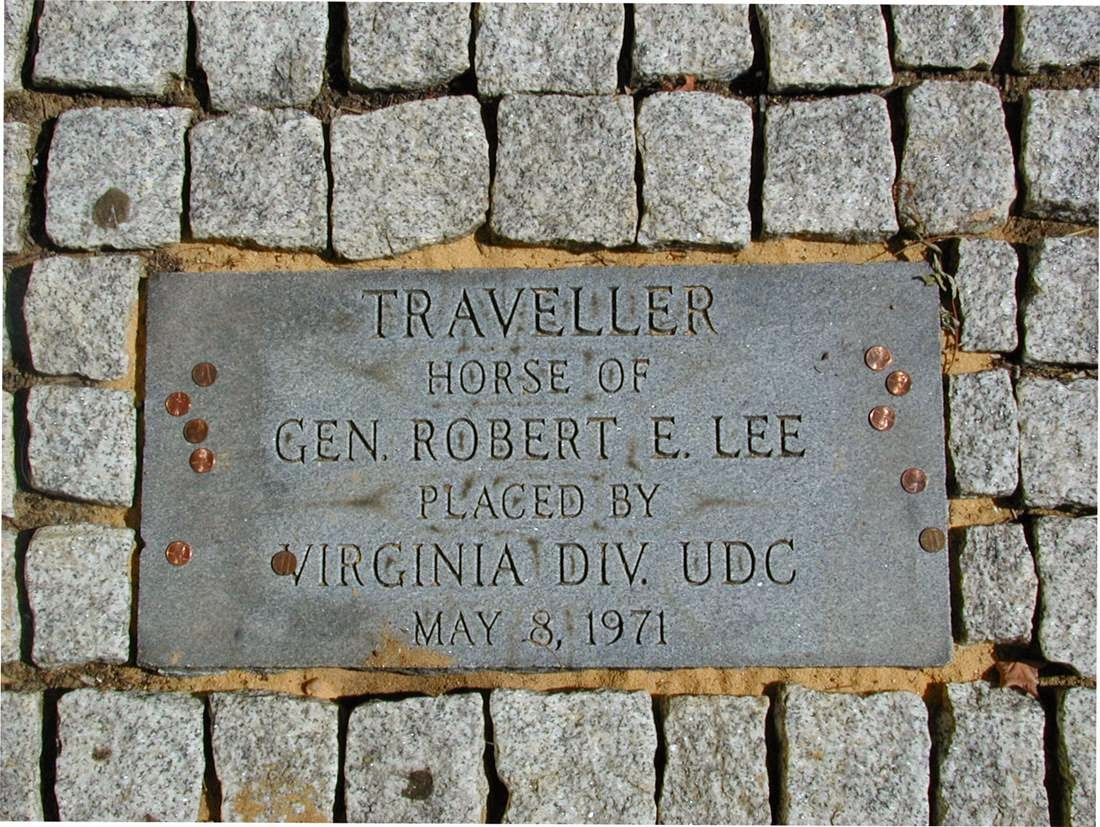 The grave of Traveller on the Washington and Lee campus.