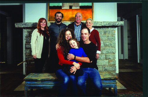 Vicki with her family. In front, her son Sam and daughter-in-law Abbie with granddaughter Anna. In back, Vicki and Sam with son Danny and daughter-in-law Tara.
