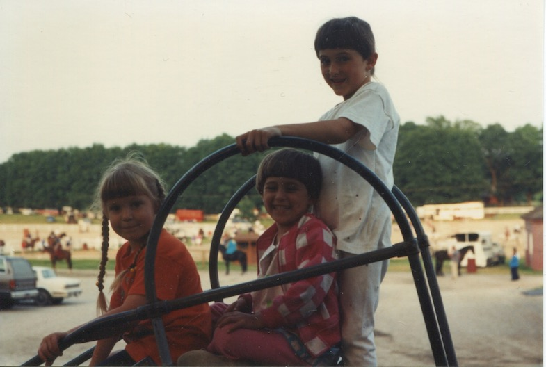 Cassi Wentz, Allie Layos and Katy (Layos) Anderson enjoying the Quentin playground in the early '90s.